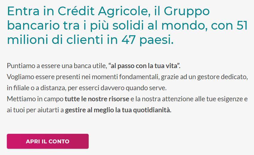 credit agricole come funziona