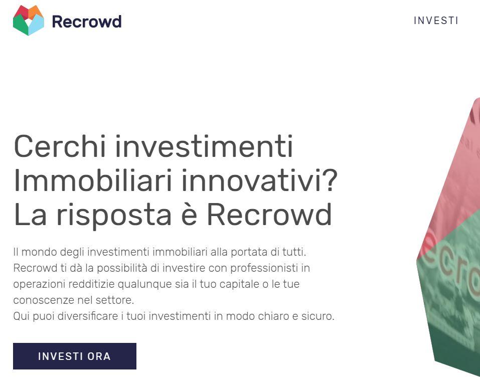 recrowd piattaforma crowdfunding immobiliare