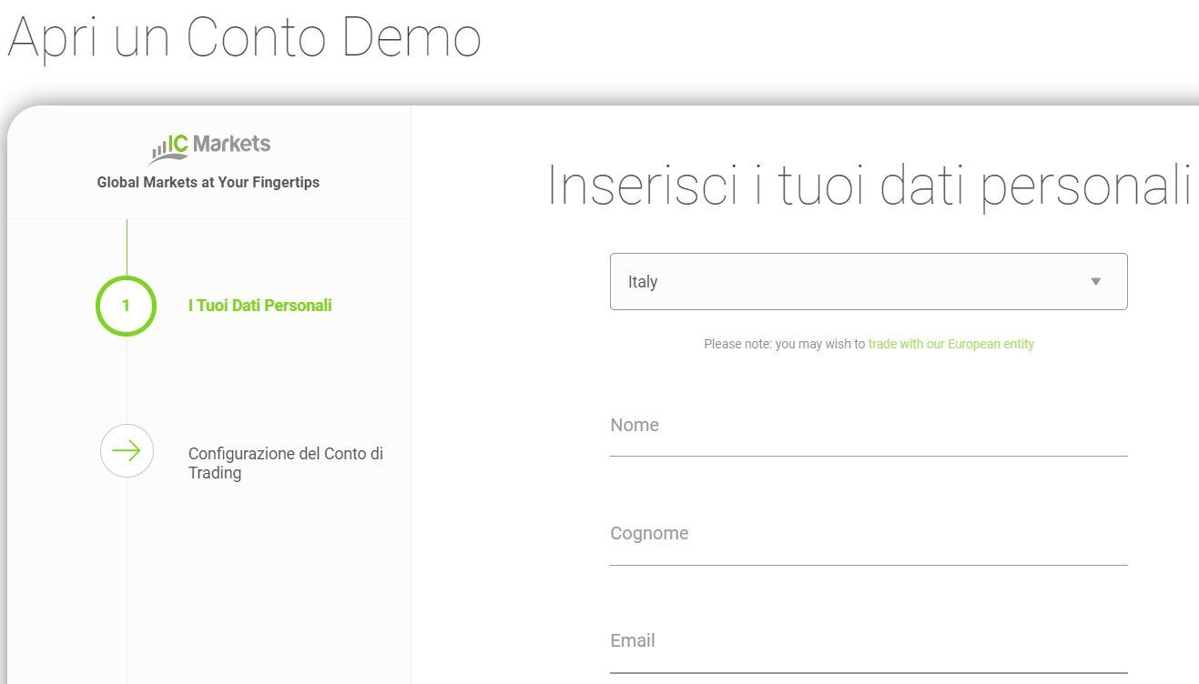 conto demo ic markets