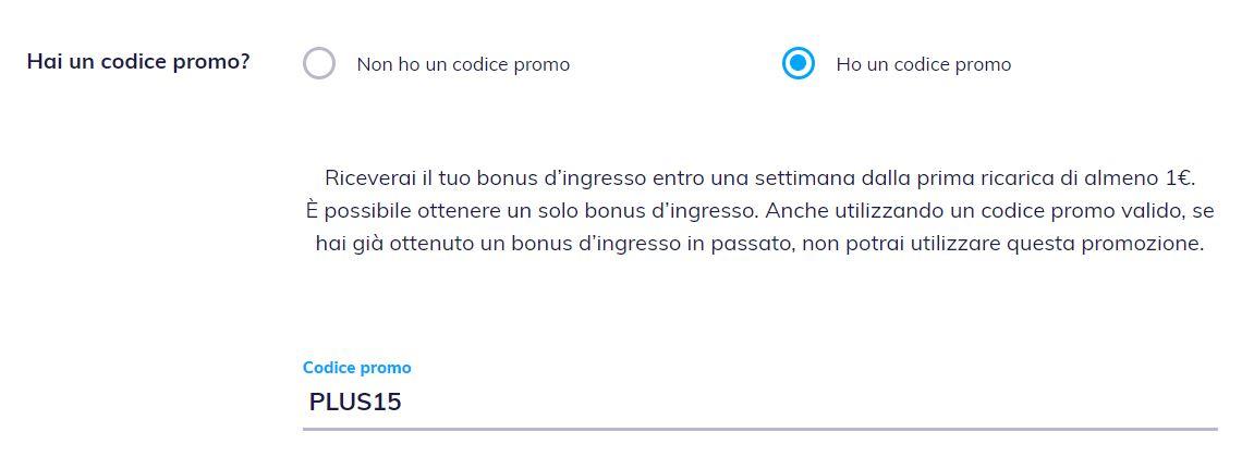 bonus 15 euro hype plus
