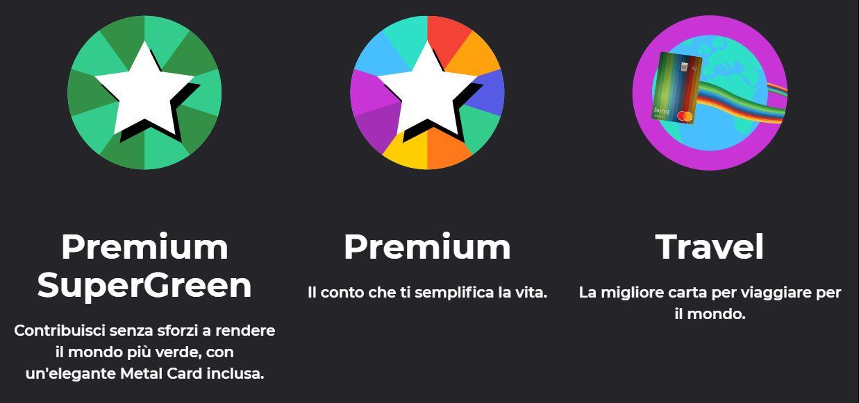 bunq travel card vs premium vs premium supergreen