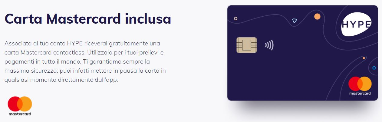 carta mastercard hype plus