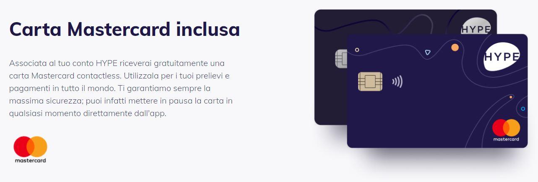 carta mastercard hype start