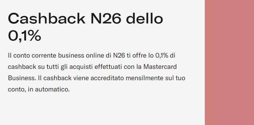 cashback n26 business