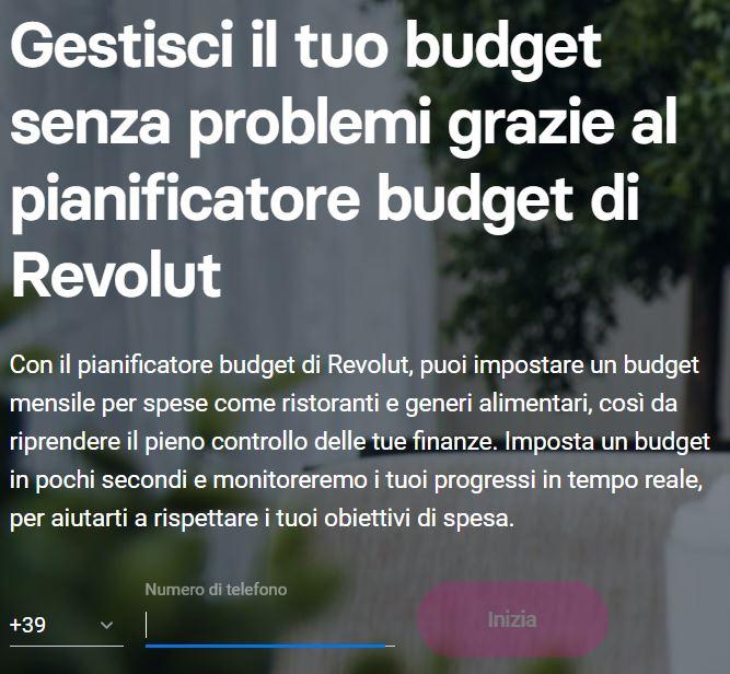gestione budget revolut