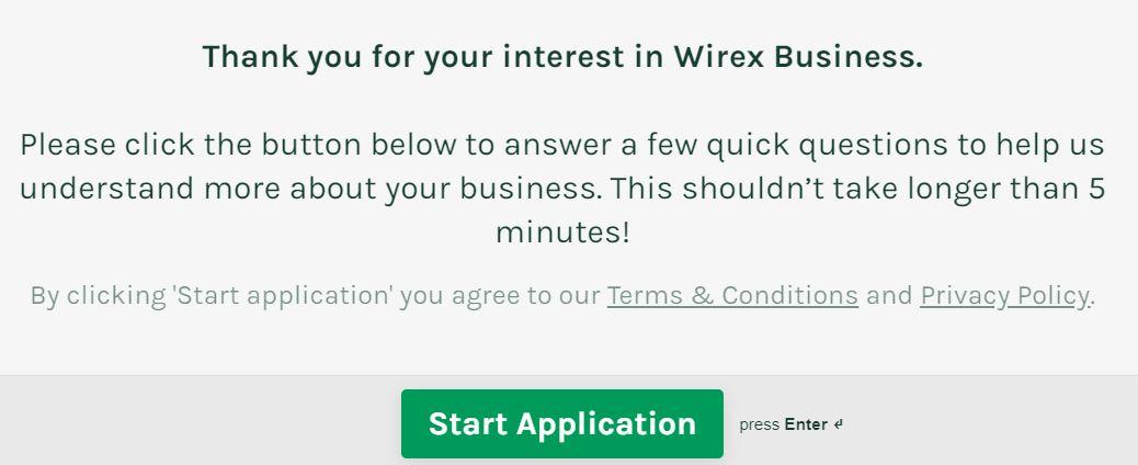 registrazione wirex business