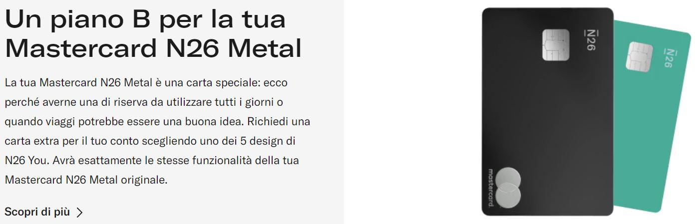 seconda carta n26 metal