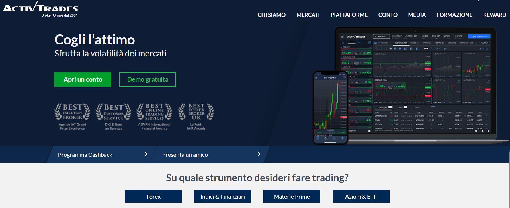 activtrades piattaforma trading per principianti