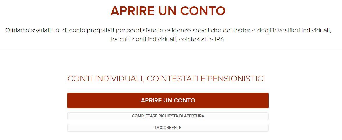 apertura conto interactive brokers