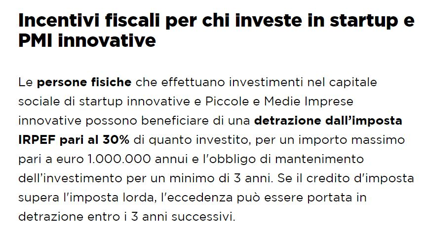 incentivi fiscali equity crowdfunding