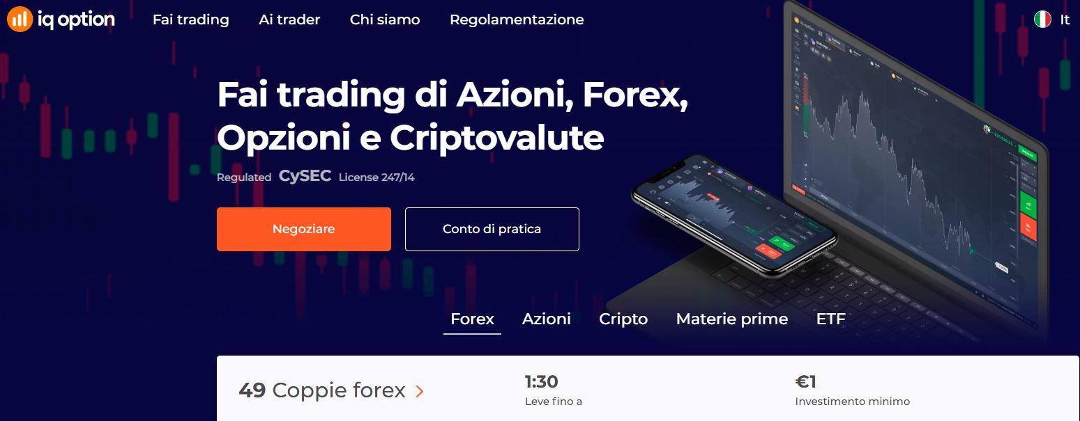 piattaforma trading forex iq option