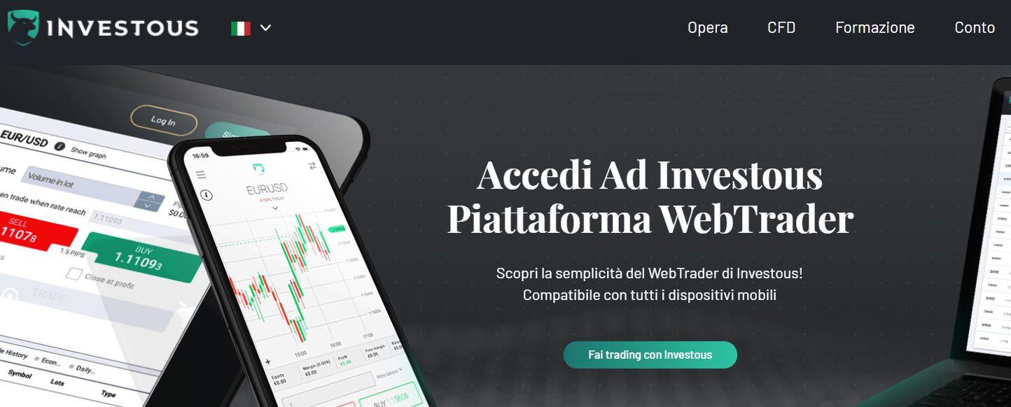 piattaforma trading professionale investous