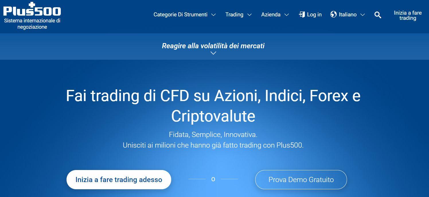 plus500 piattaforma trading online