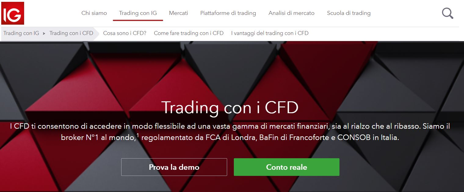 trading cfd ig