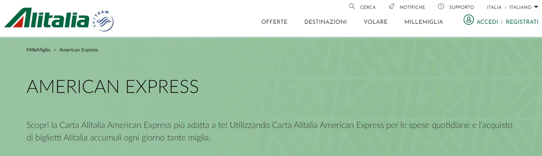 alitalia american express