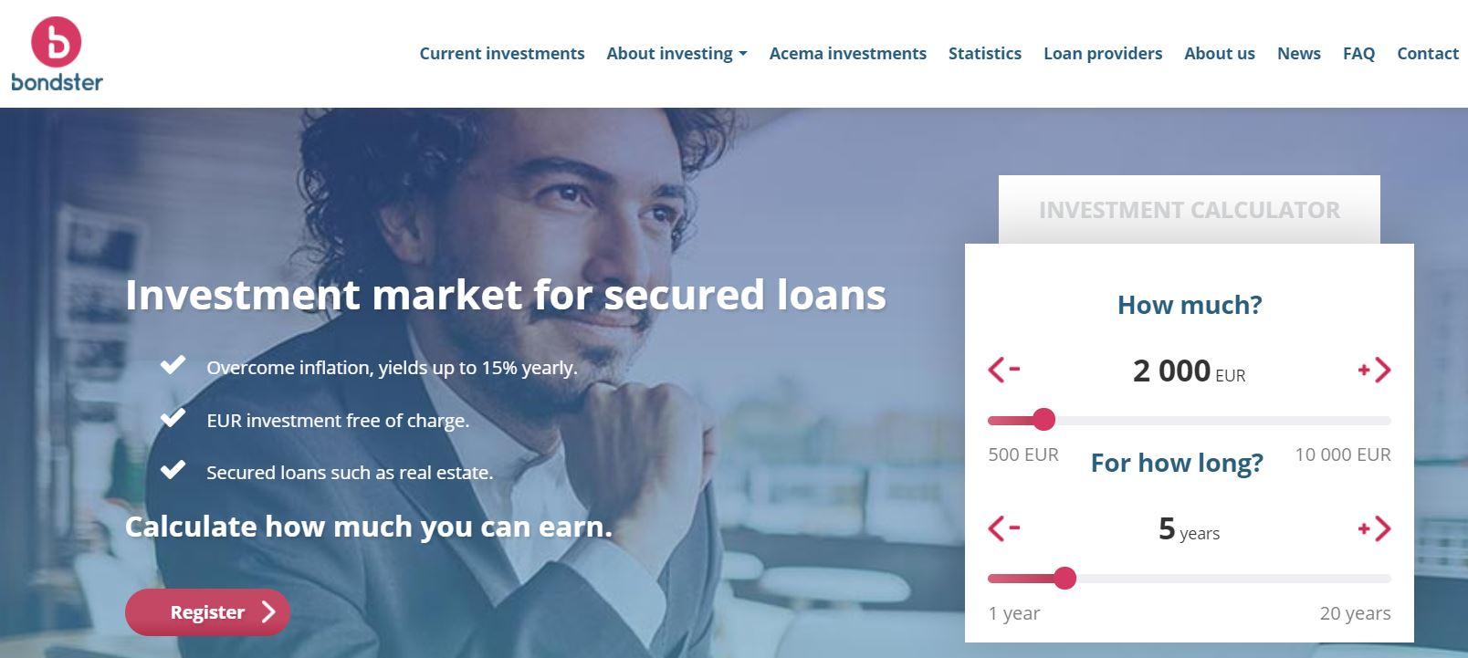 bondster p2p lending