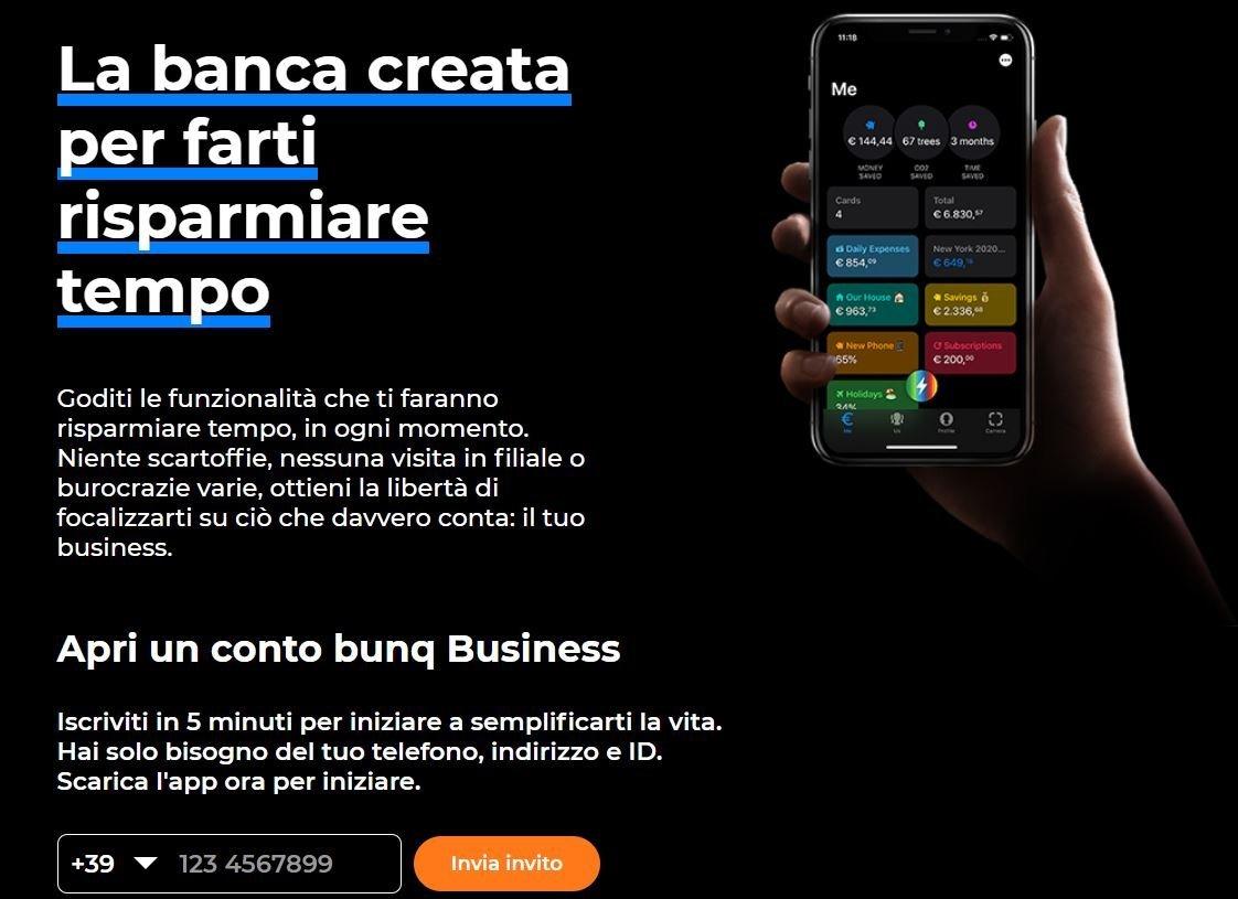 carta aziendale bunq business