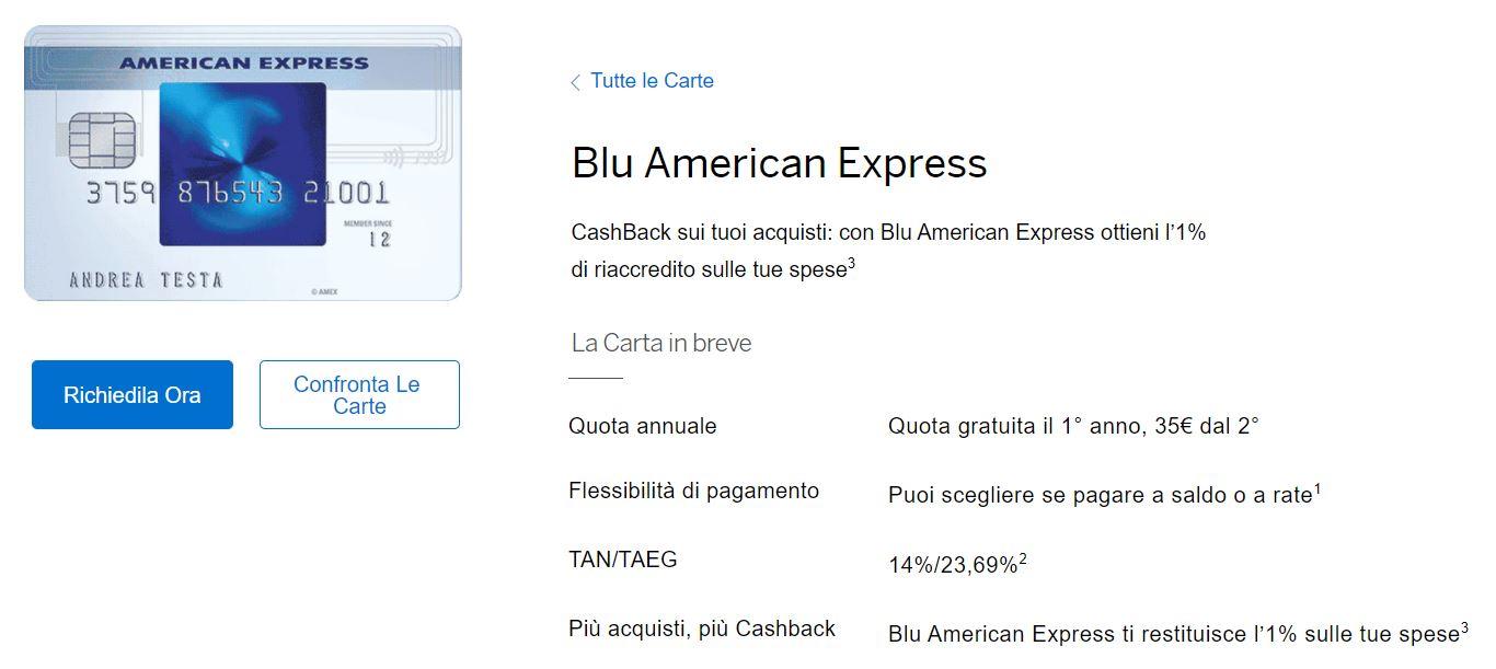 carta blu vs carta verde american express