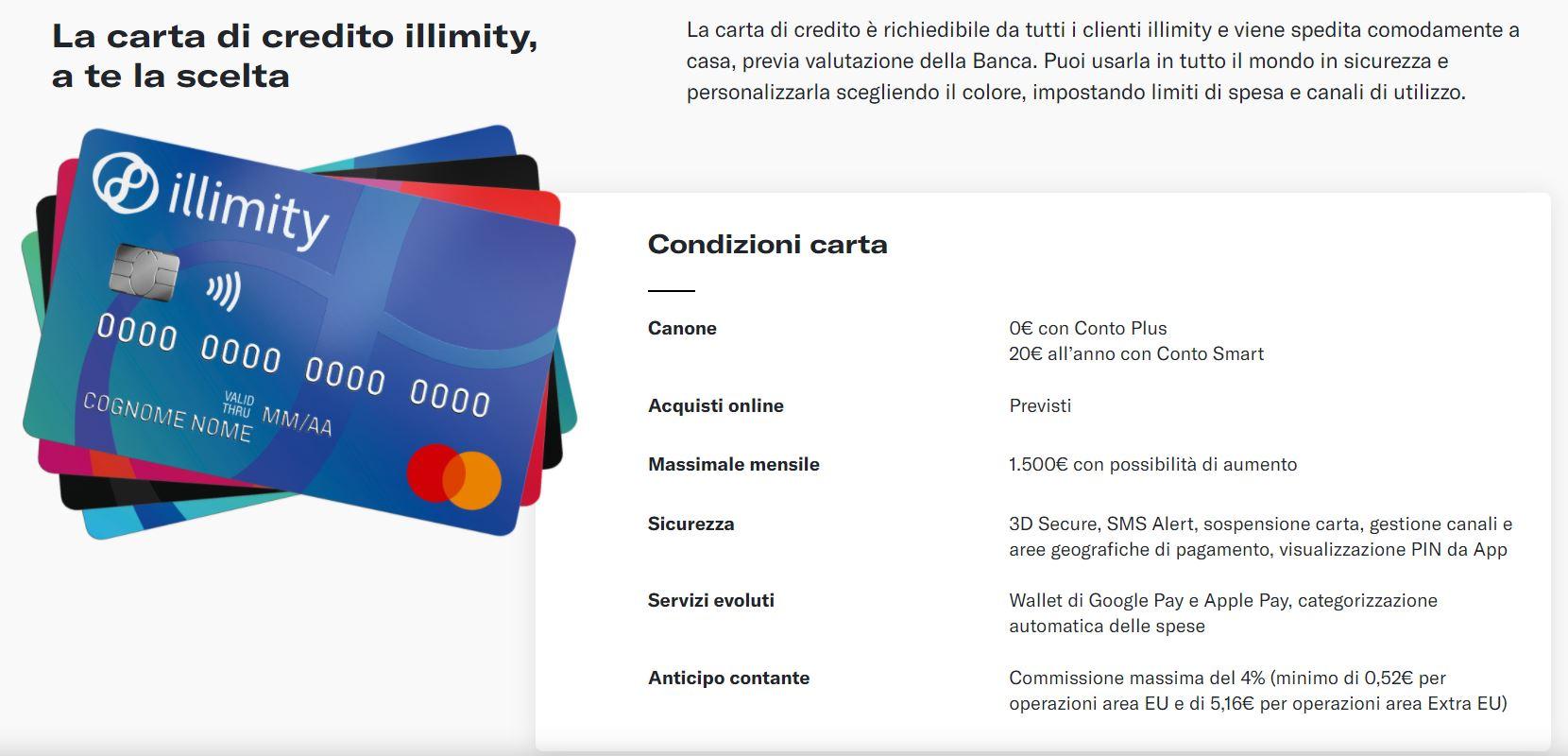 carta di credito illimit bank