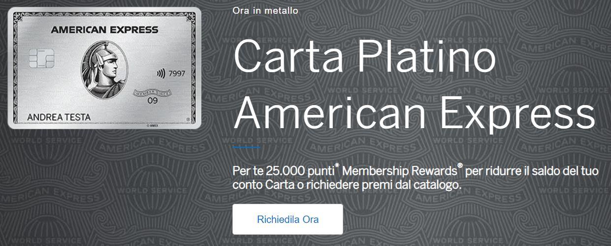 carta di credito platino american express