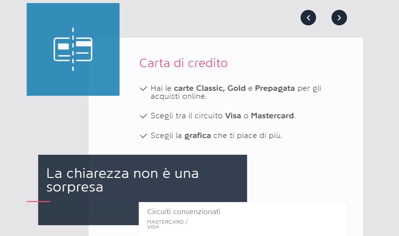 carta di credito visa online