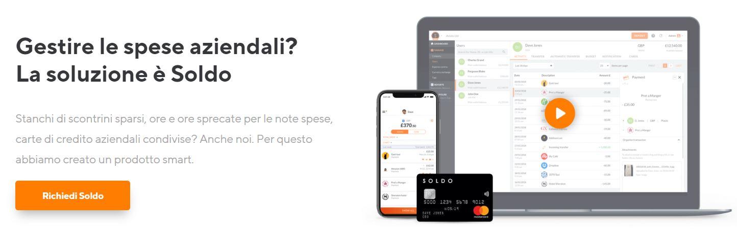 carta preagata aziendale senza conto corrente