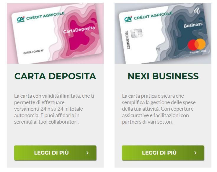 carte aziendali credit agricole