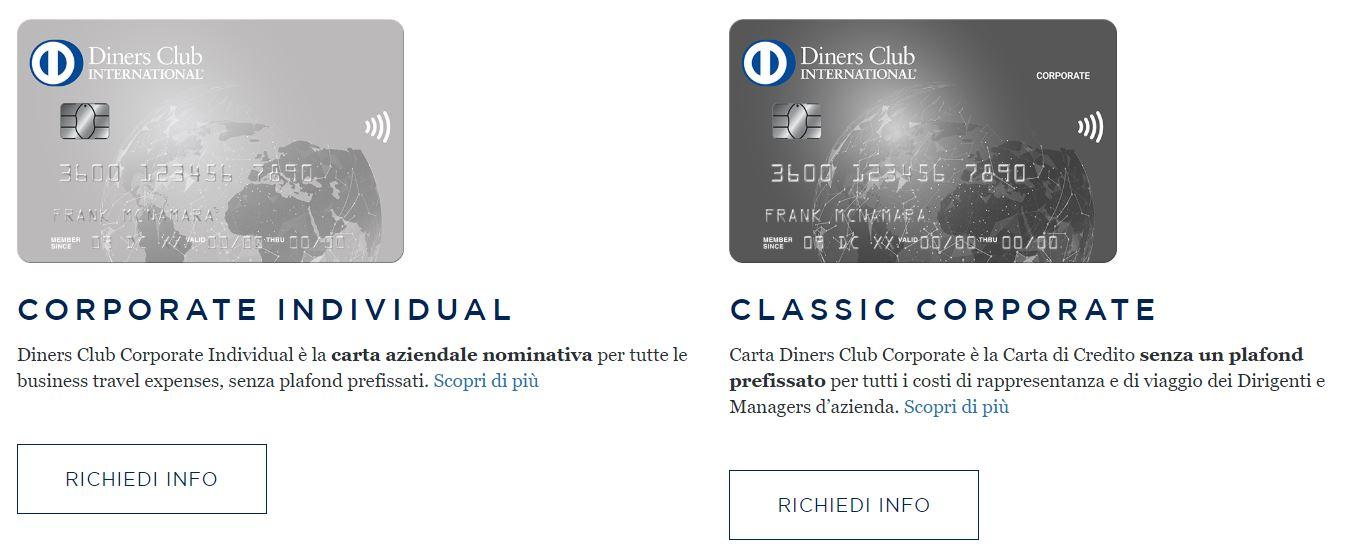 carte di credito aziendali diners club