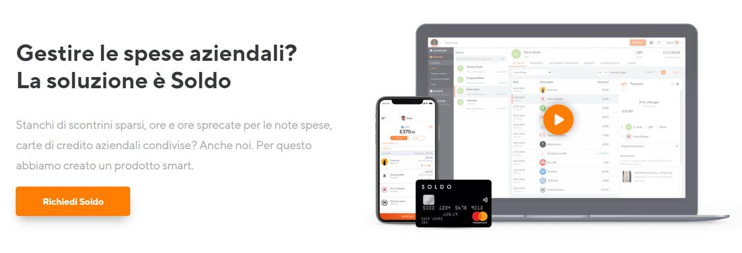 carte di credito aziendali soldo