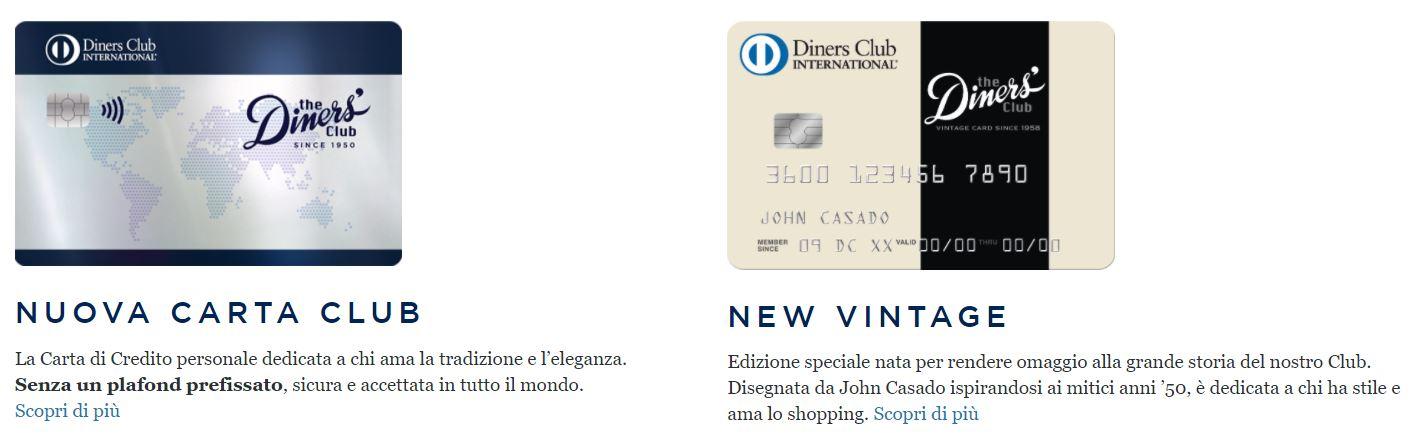 carte di credito diners club