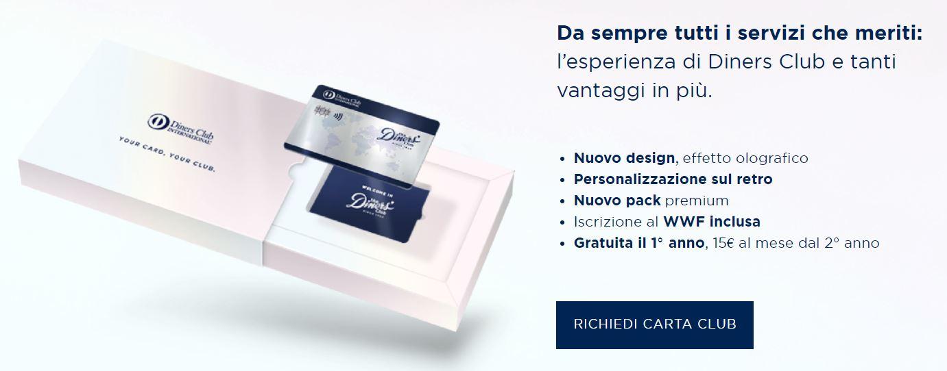 carte di credito online diners club