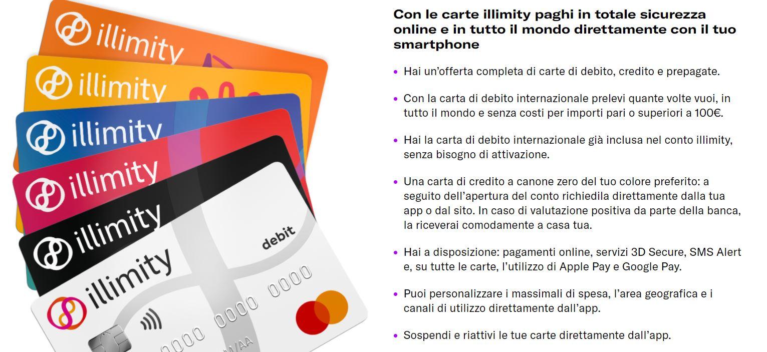 carte di credito online illimity ban