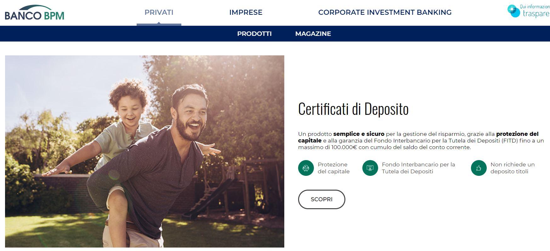 certificati di deposito bpm