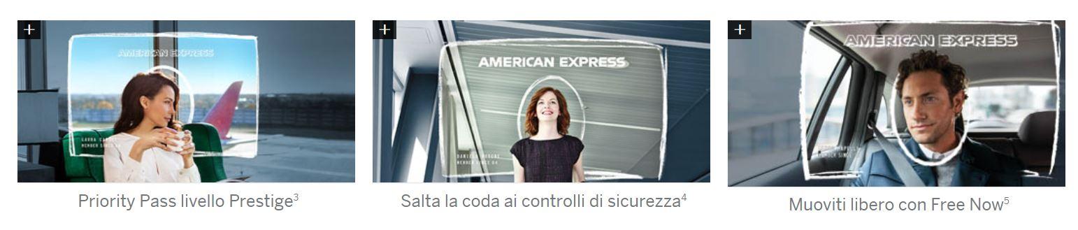 come funziona carta platino american express