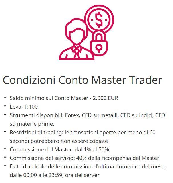 condizioni conto master trader