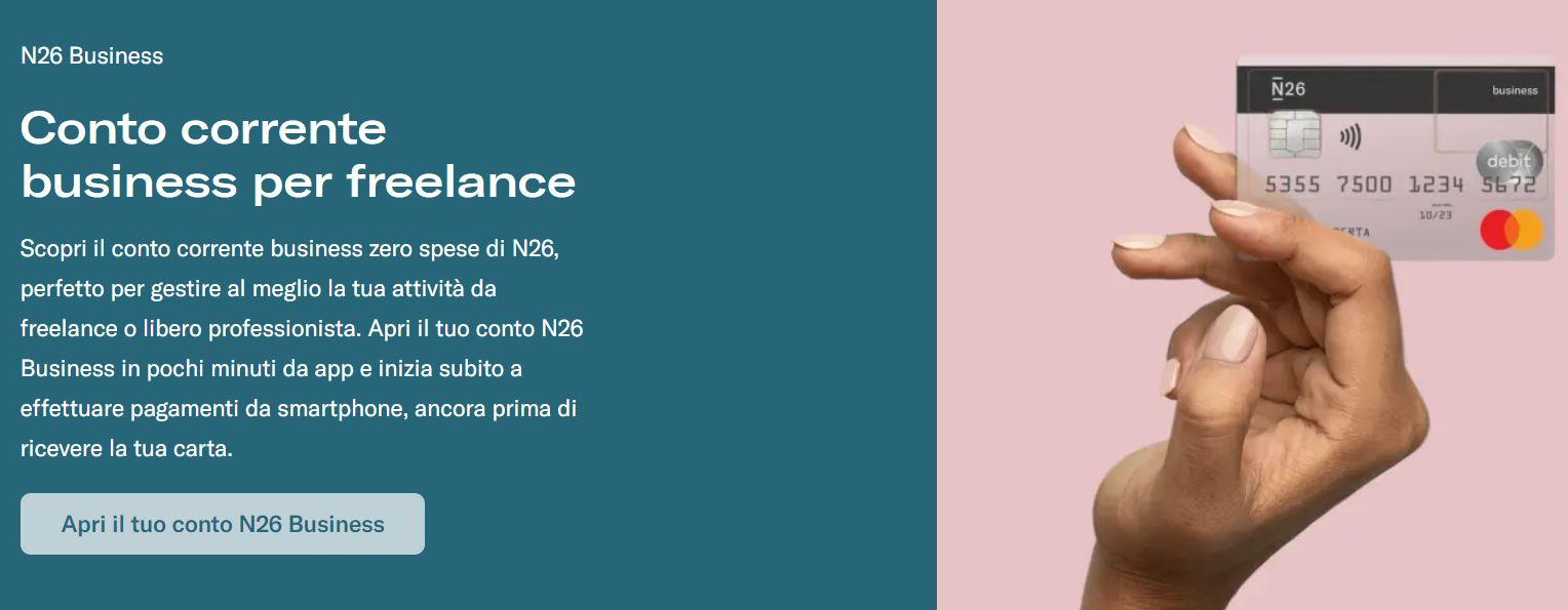 conto corrente business per freelance n26