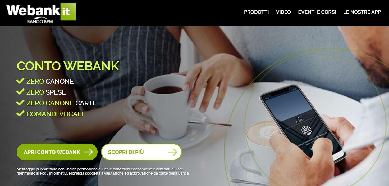 conto corrente on line webank