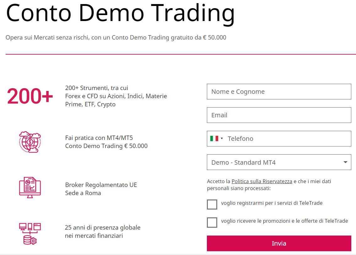 conto demo trading teletrade