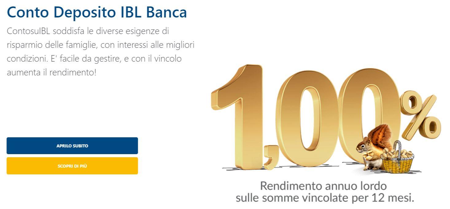 conto deposito ibl banca