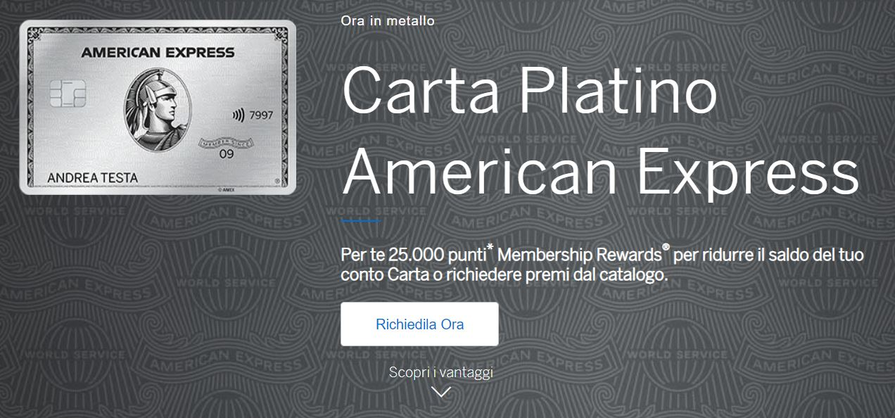 cos'è carta platino american express
