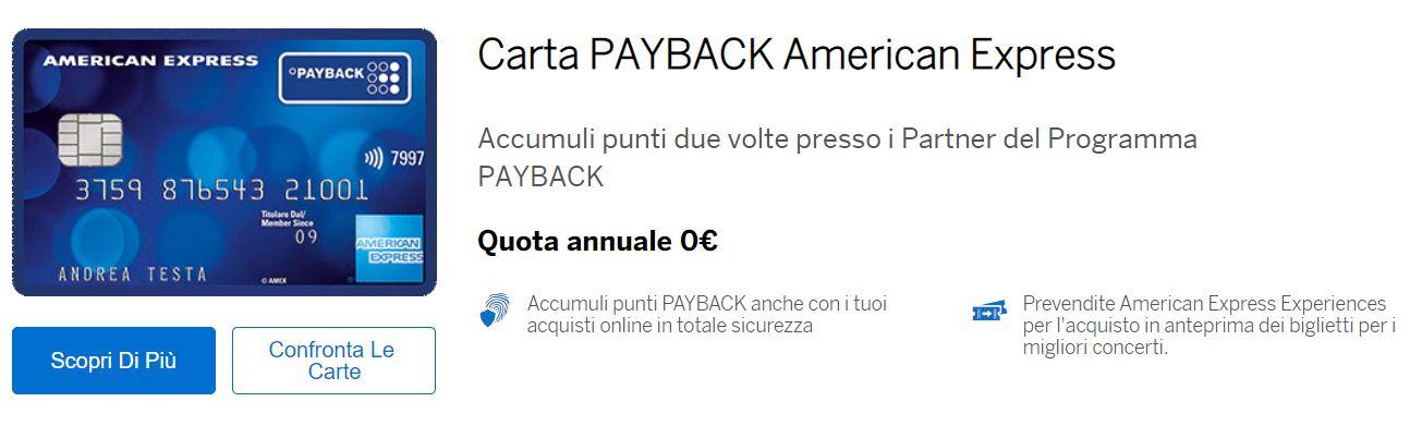 costi american express payback