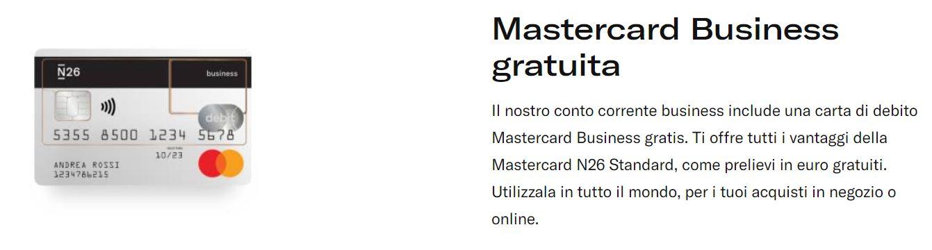 mastercard business n26