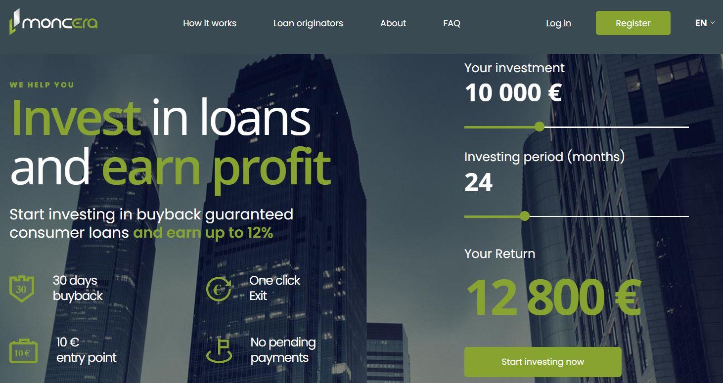 moncera peer to peer lending