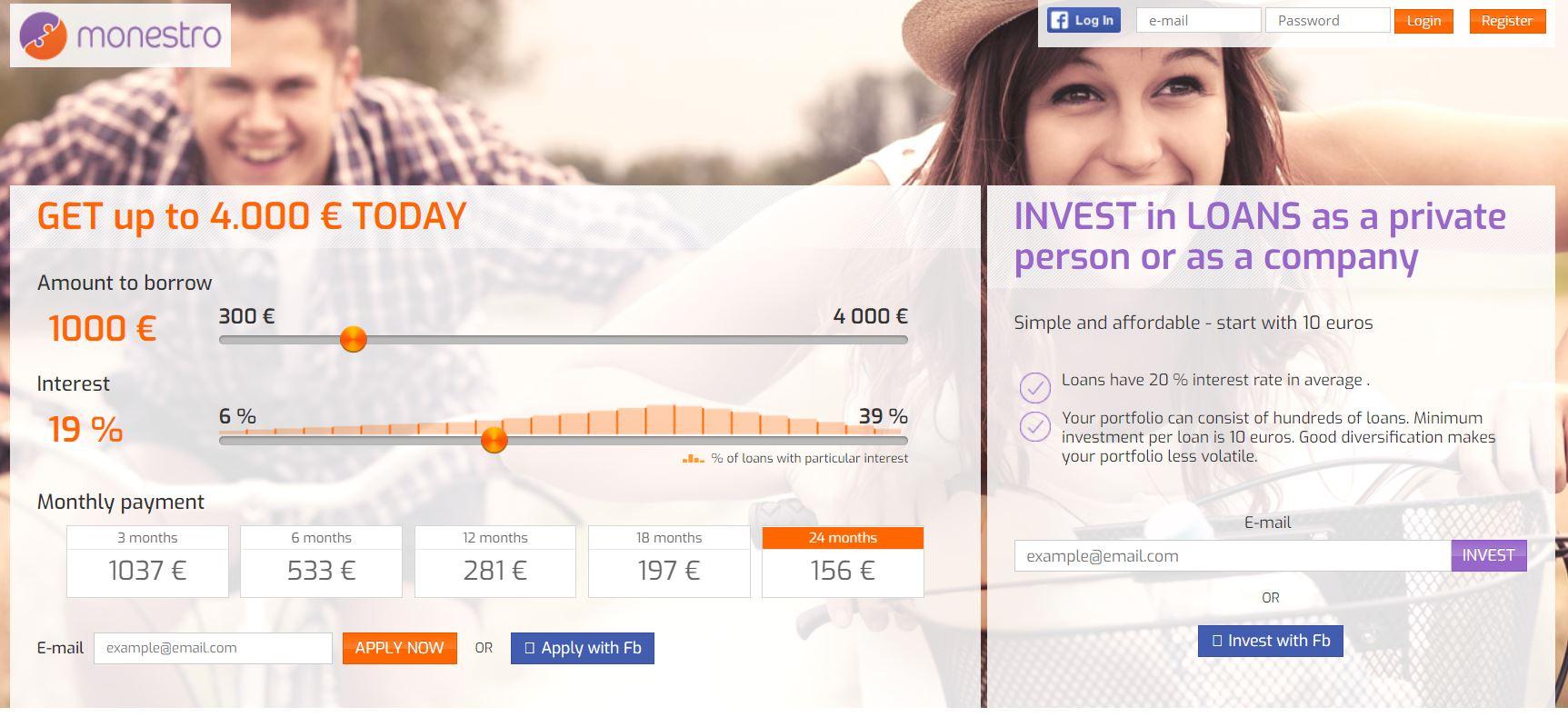 monestro p2p lending