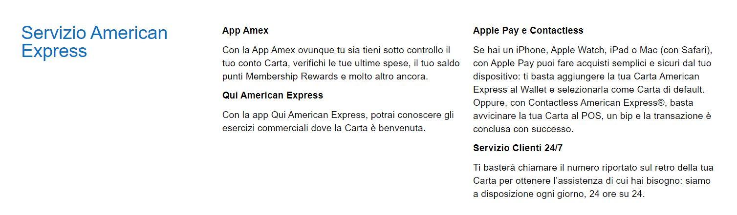 servizi american express