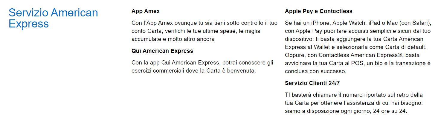 servizio american express alitalia