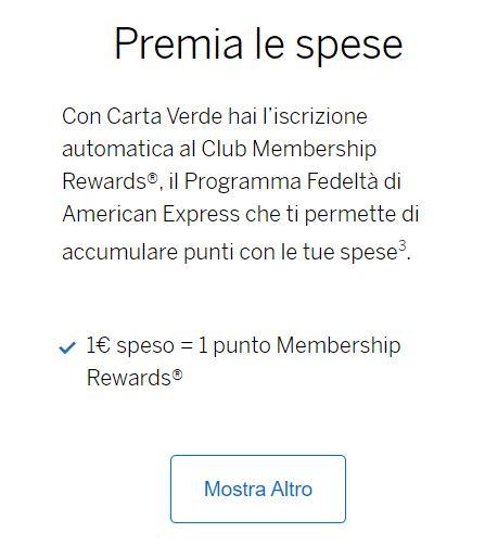 spese american express verde