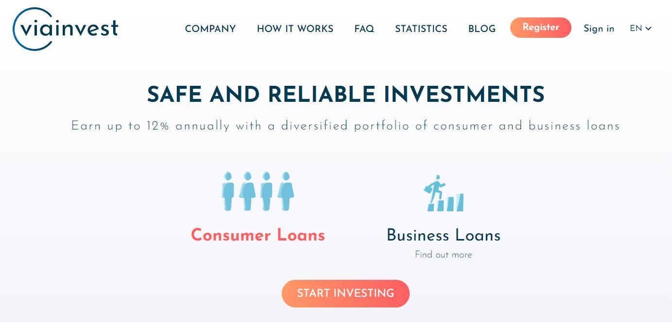 viainvest peer to peer lending