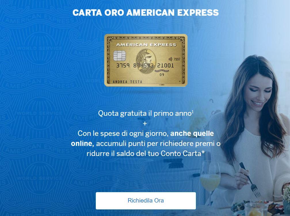 carta con fido american express