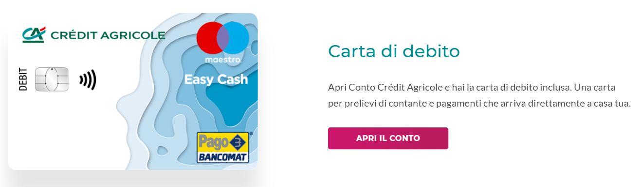 carta di debito bancomat